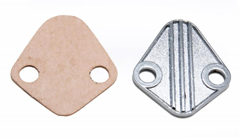 Trans-Dapt Performance 2058 FUEL PUMP BLOCK-OFF;CUSTOM-Style;BB Chevy 396-454,V6 (1-3/4 in. centers)-CHROME