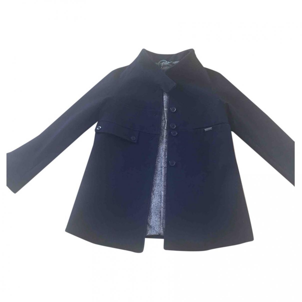 Annie P - Manteau   pour femme en laine - noir