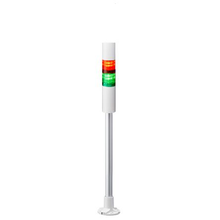 Patlite LED Pre-Configured Beacon Tower With Buzzer, 2 Light Elements, Green, Red, 24 V dc