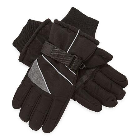 WinterProof Little & Big Boys Cold Weather Gloves, Small-medium , Black