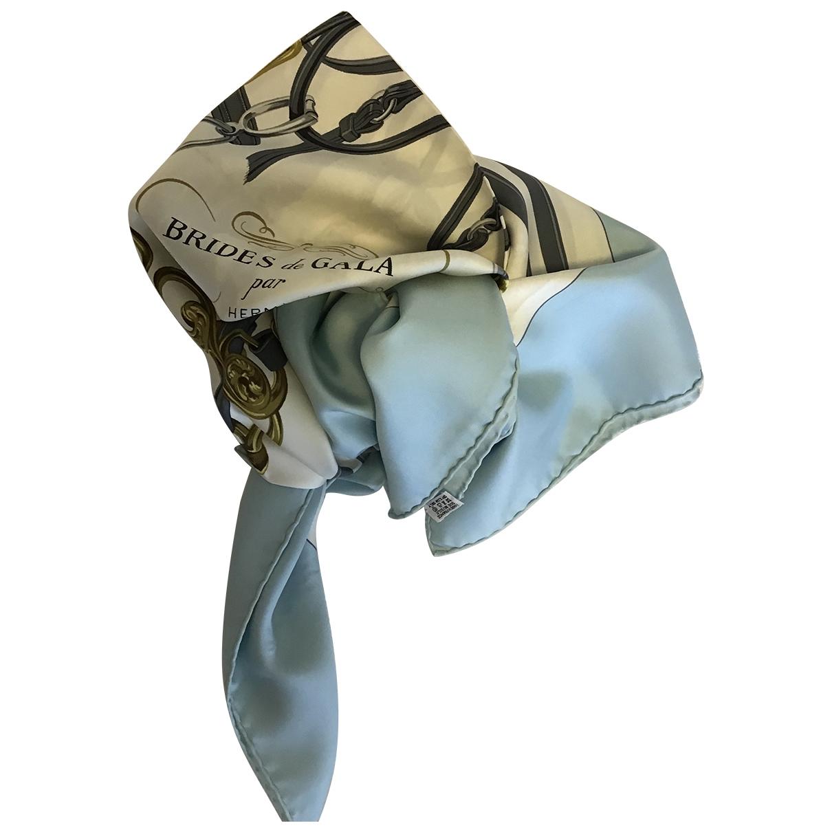 Hermes - Carre Carre 90 pour femme en soie - blanc