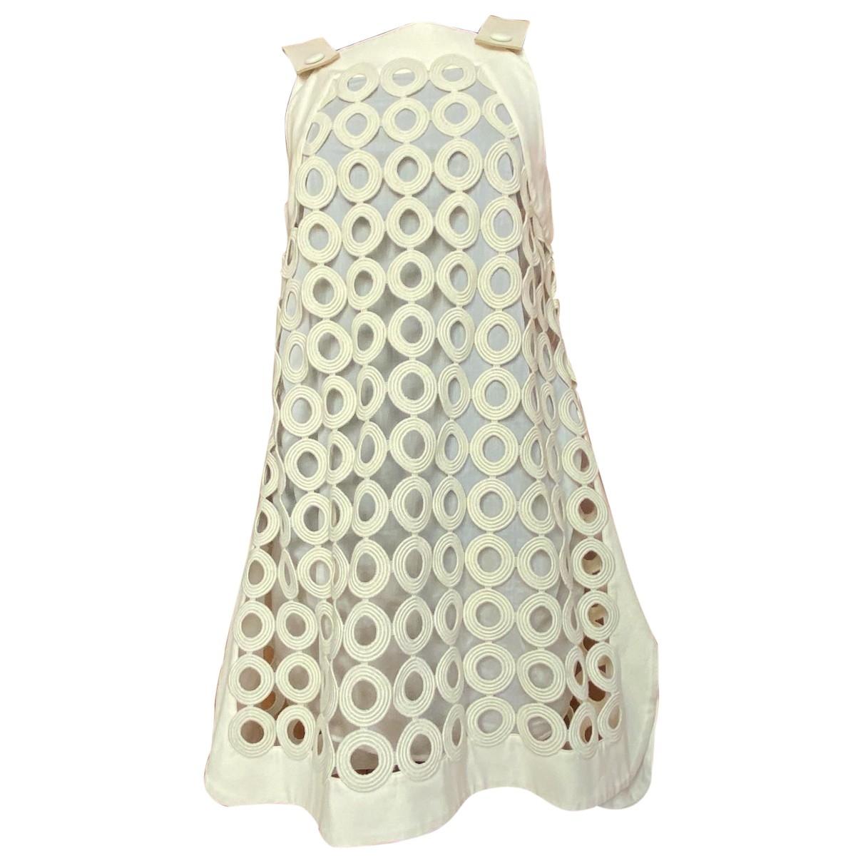 Sport Max \N Kleid in  Ecru Polyester