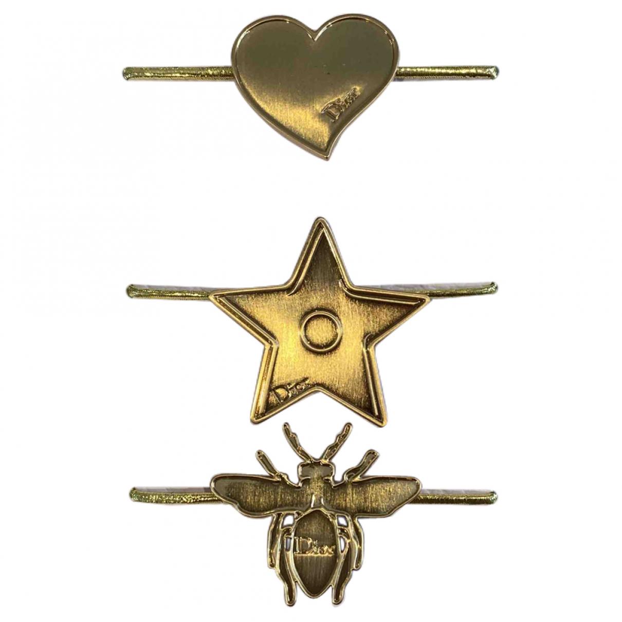 Dior Monogramme Haarschmuck in  Gold Metall