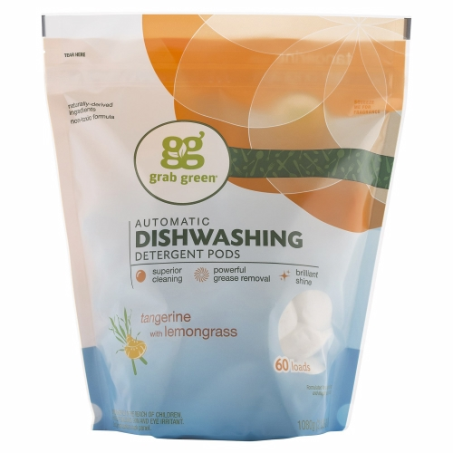 Tangerine Dishwasher Pods 60 Laods by Grab Green