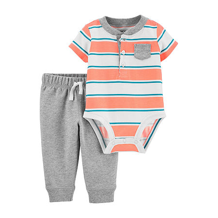 Carter's Baby Boys Bodysuit Set, 6 Months , Orange