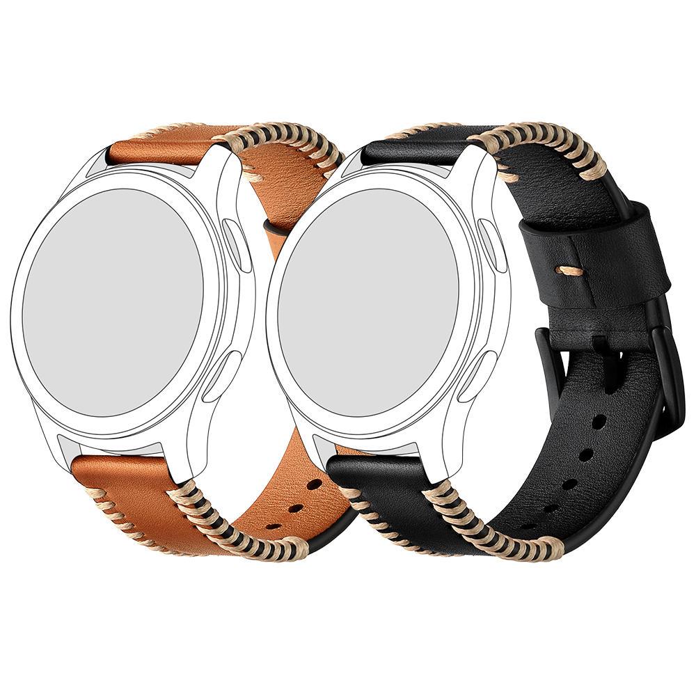 General 18/20/22mm Watch Band Stitches Genuine Leather Universal Watch Strap