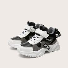 Jungen Sneakers mit Buchstaben Grafik und Klettverschluss