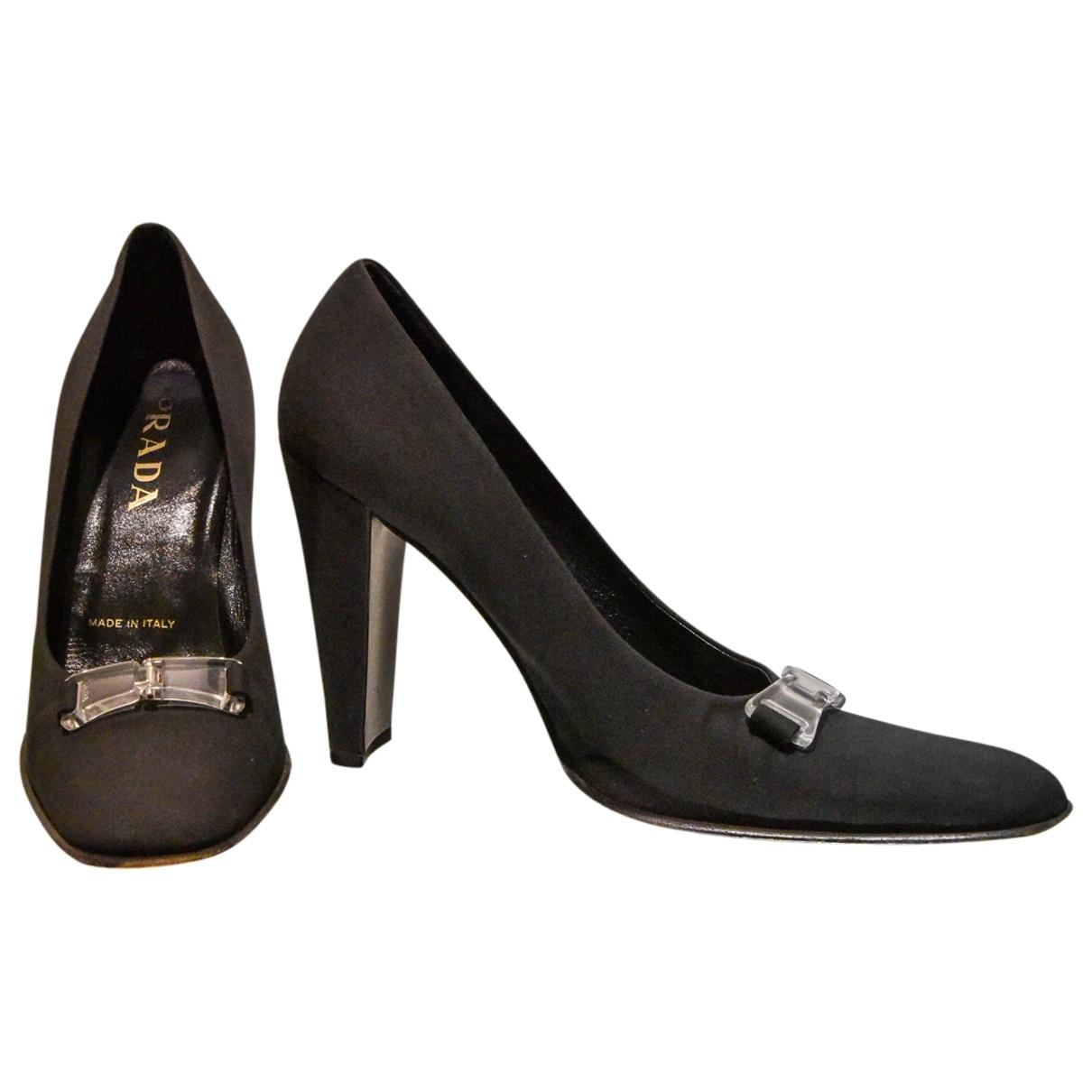 Prada - Escarpins   pour femme en toile - noir