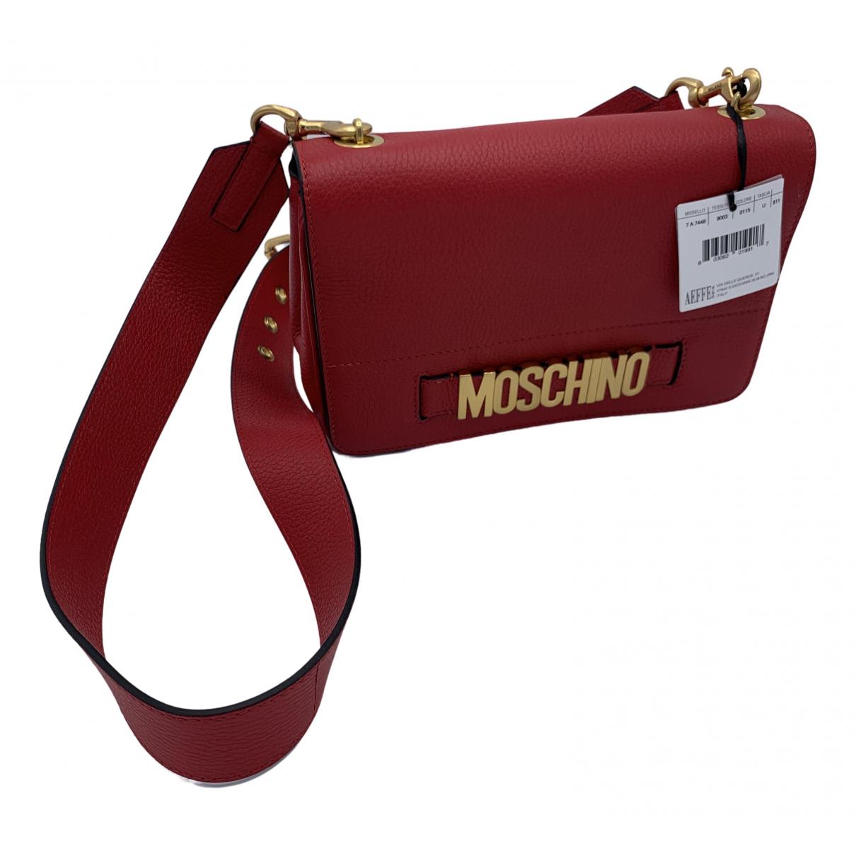 Moschino - Sac a main   pour femme en cuir - rouge