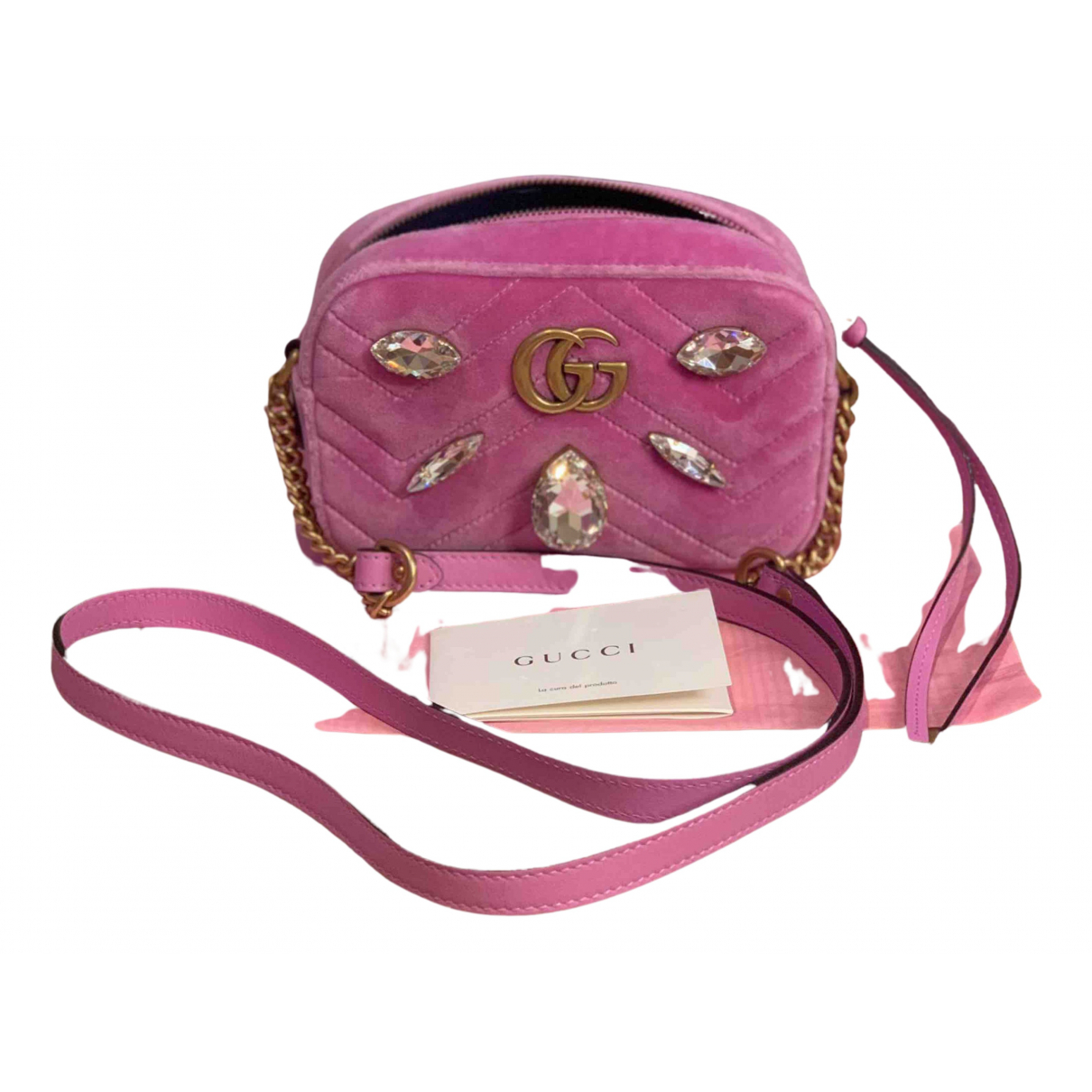 Gucci Marmont Pink Velvet handbag for Women N