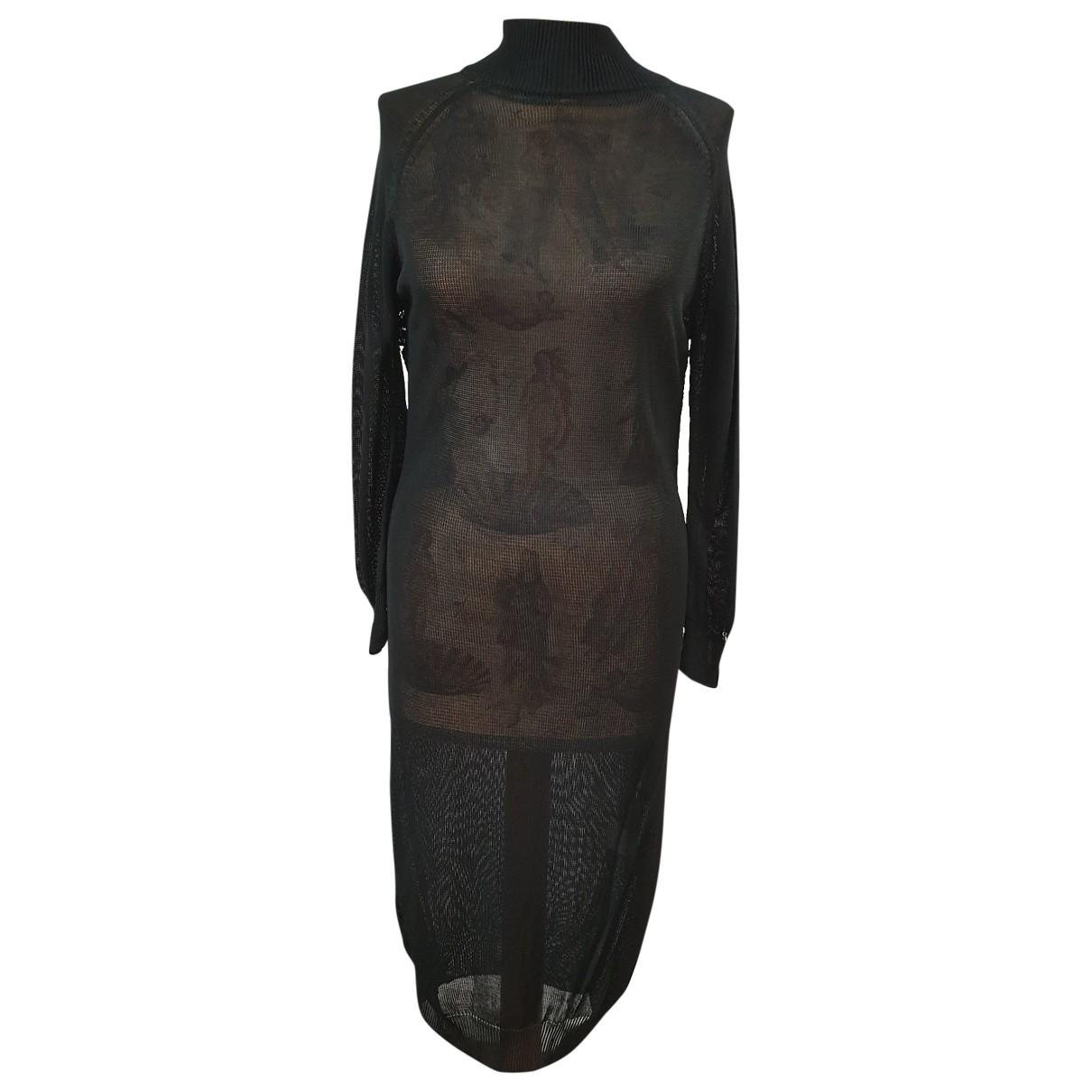 Non Signé / Unsigned \N Black Cotton dress for Women 46 IT