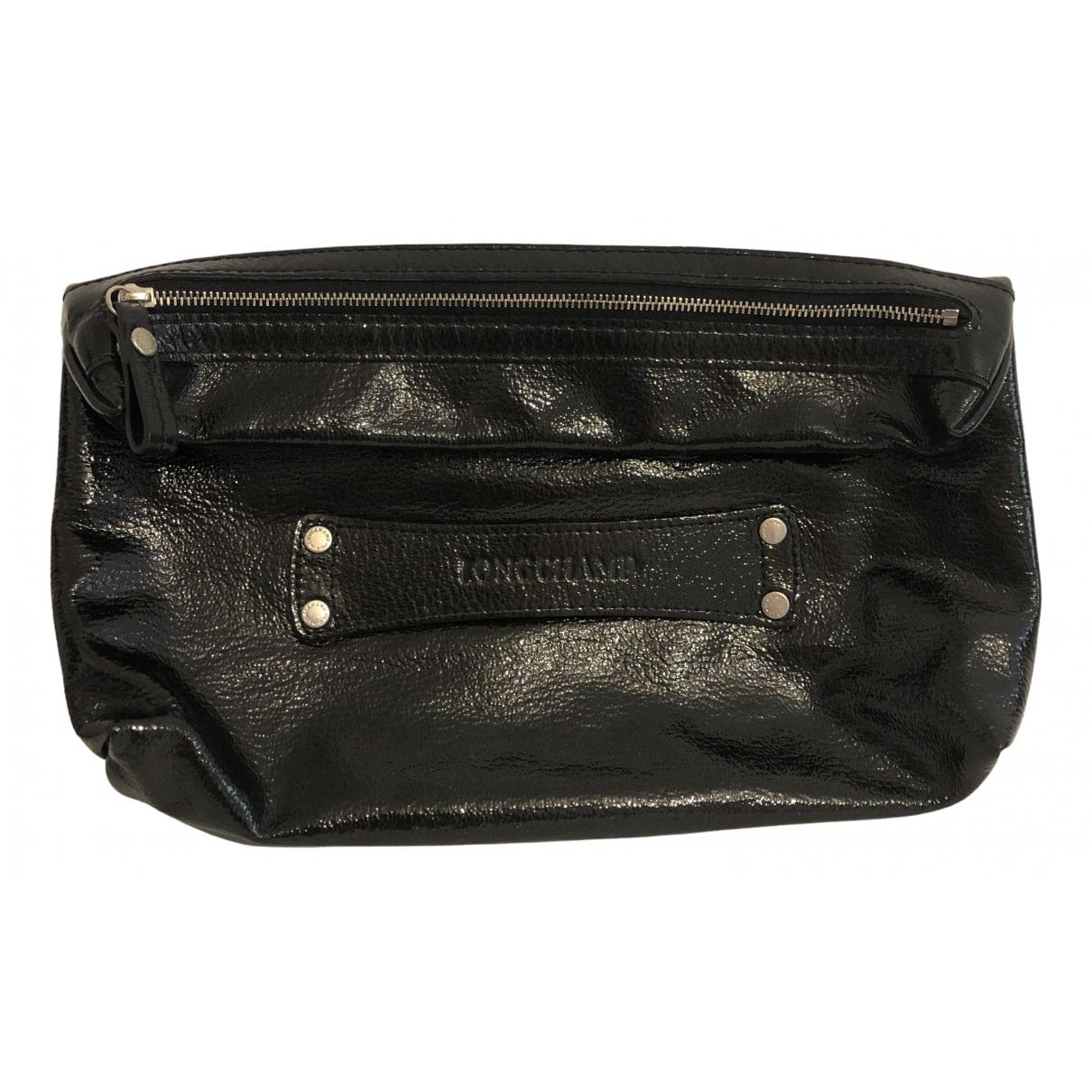 Longchamp \N Clutch in  Schwarz Lackleder