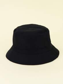 Kids Solid Double Sided Bucket Hat