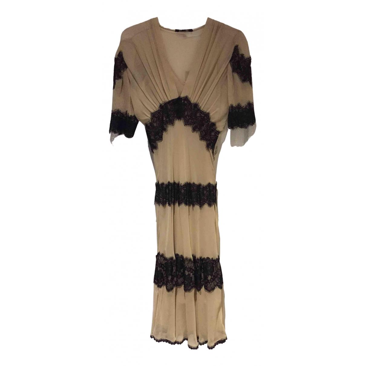 All Saints - Robe   pour femme en soie - beige