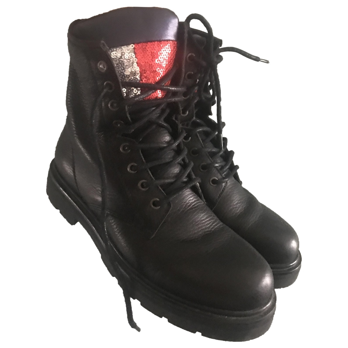 Tommy Jeans \N Black Leather Boots for Women 37 IT