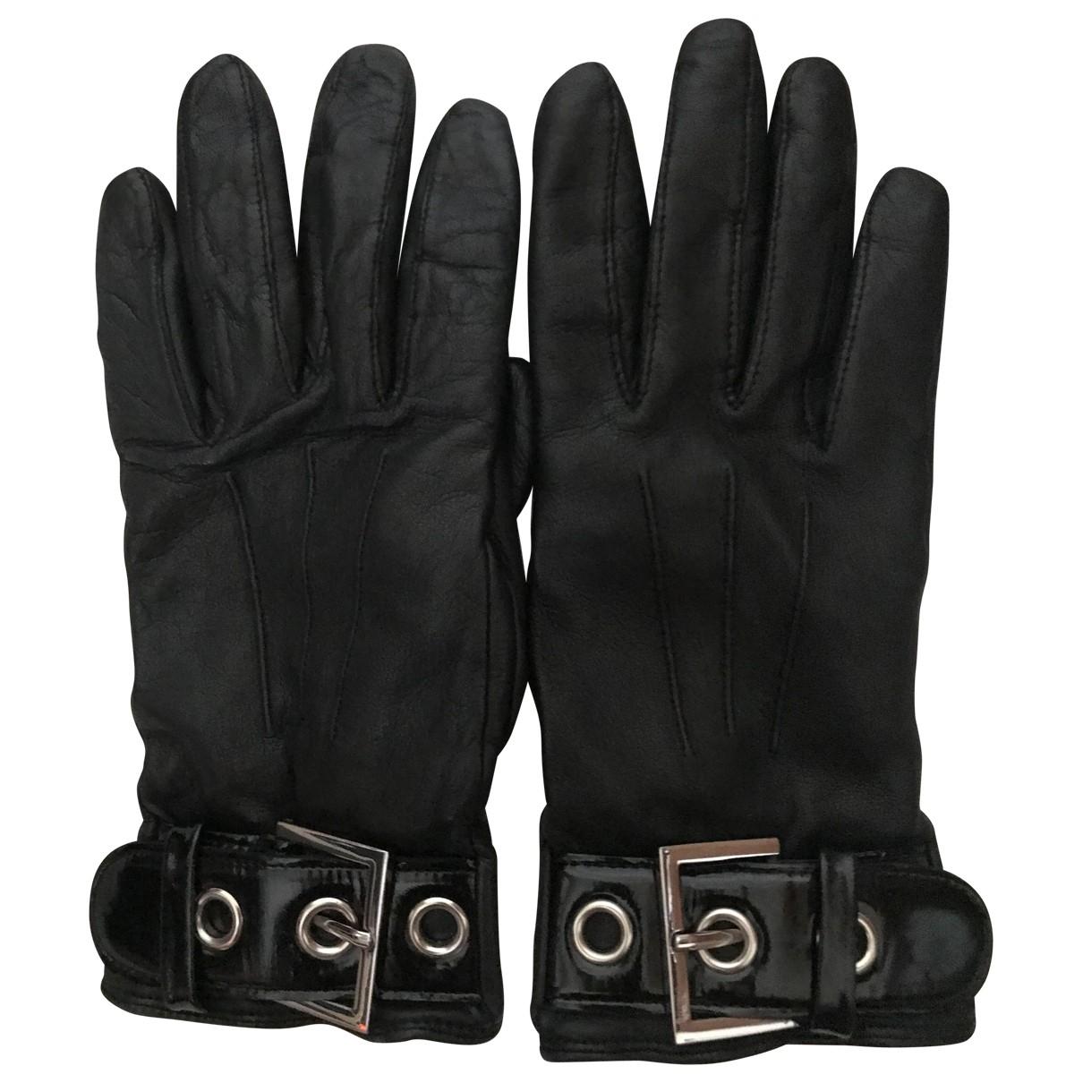 Jaeger London - Gants   pour femme en cuir - noir