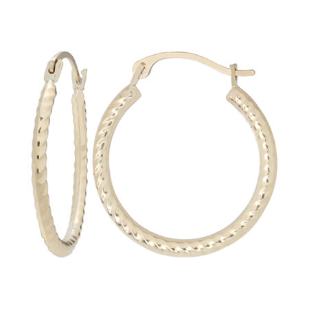 10K Gold Rope Hoop Earrings, One Size , No Color Family