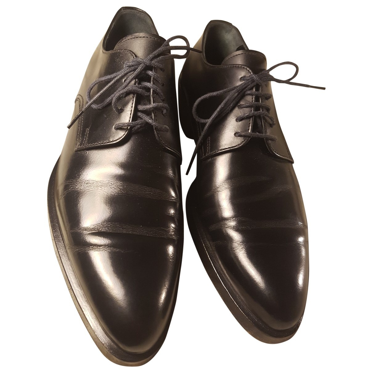 Dolce & Gabbana \N Black Patent leather Lace ups for Men 7.5 UK