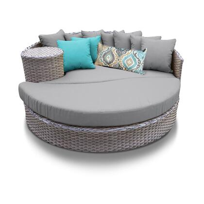 Monterey Collection MONTEREY-SUN-BED-GREY 1 Sun Bed with 4 Large pillows   3 Regular pillows - Beige and Grey