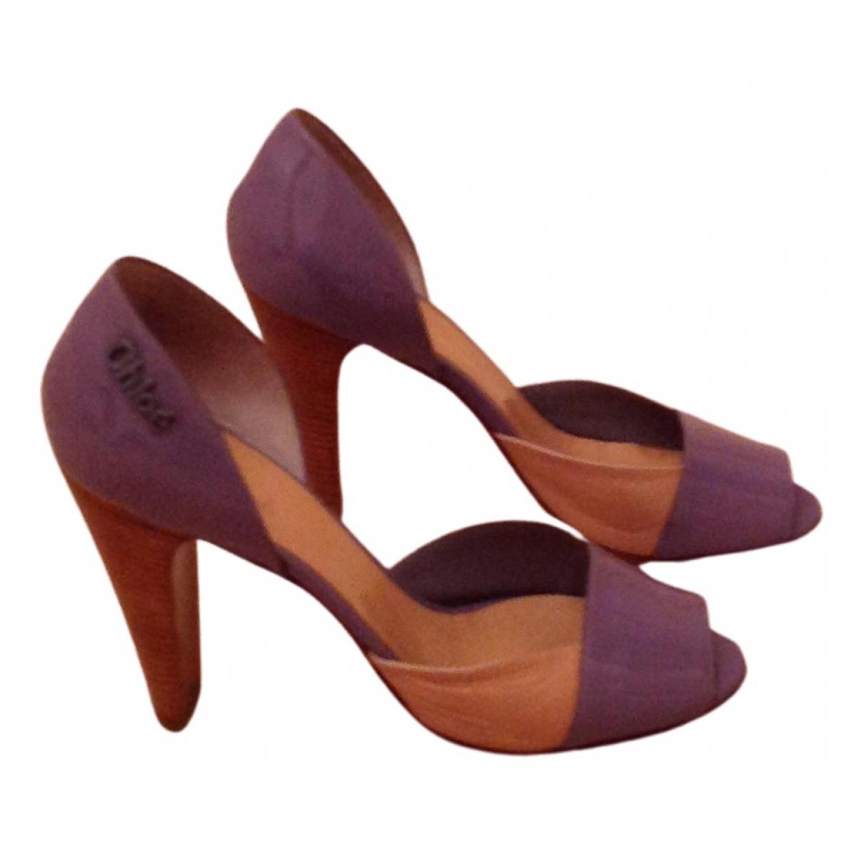 Chloe - Escarpins   pour femme en cuir verni - violet