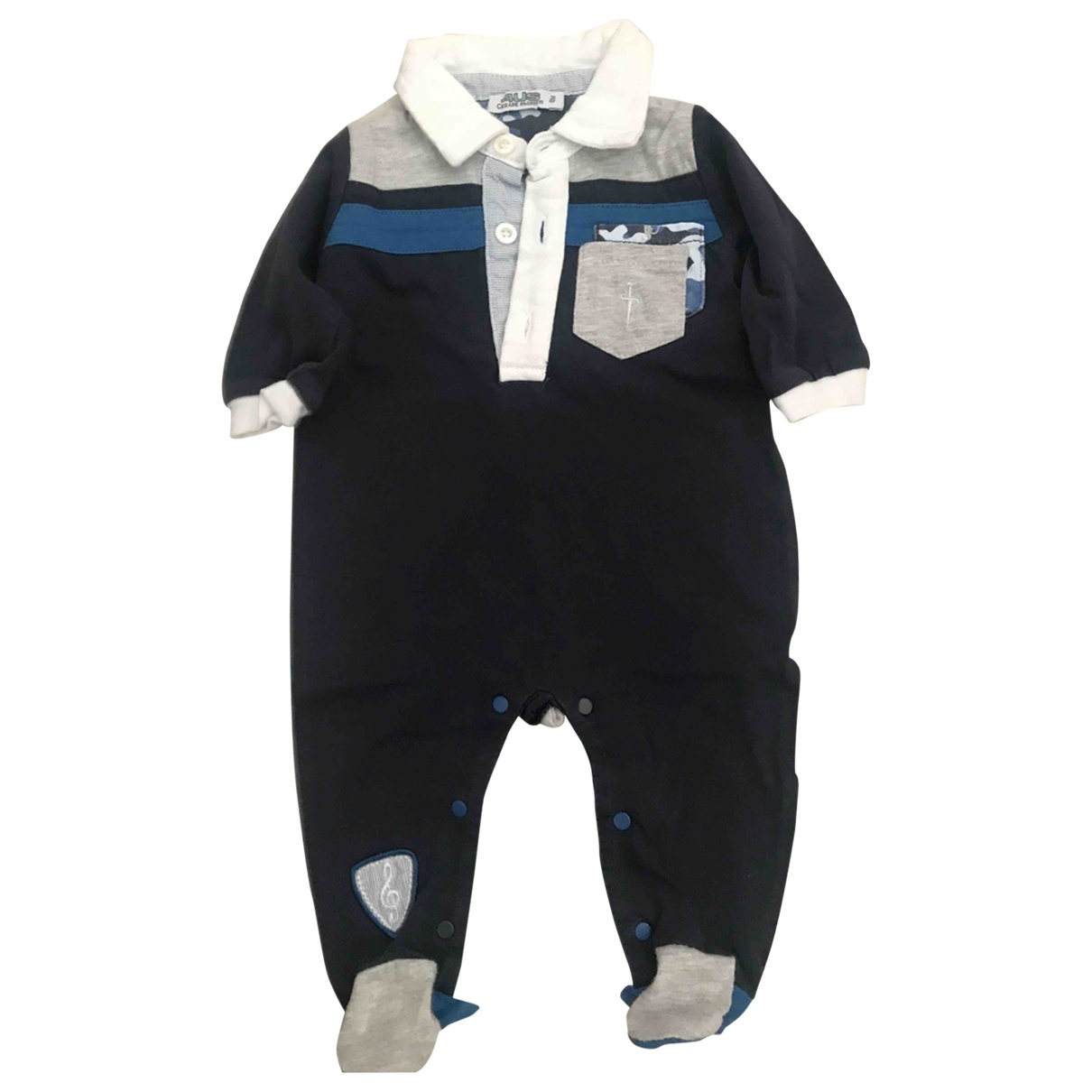 Cesare Paciotti \N Blue Cotton Trousers for Kids 1 months - up to 55cm FR