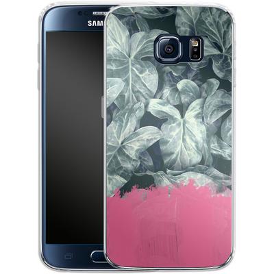 Samsung Galaxy S6 Silikon Handyhuelle - Sweet Pink on Jungle von Emanuela Carratoni