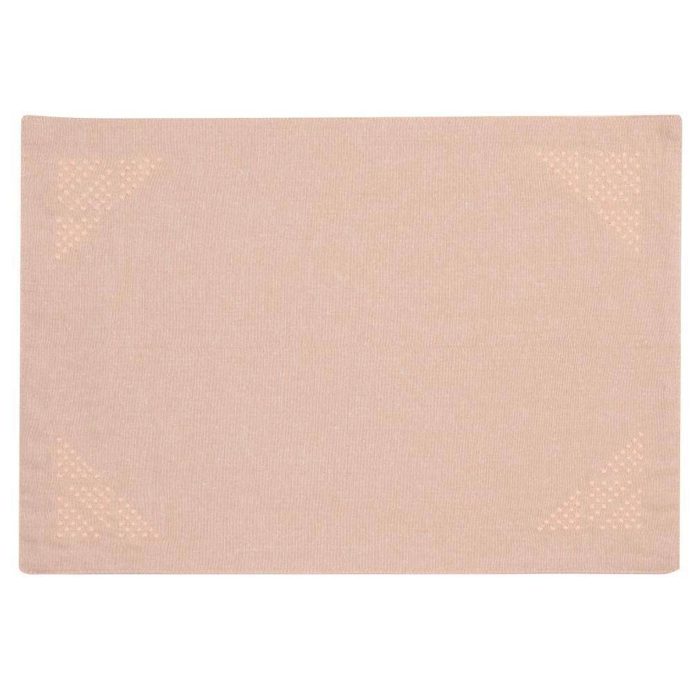 Tischset aus Baumwolle, rosa