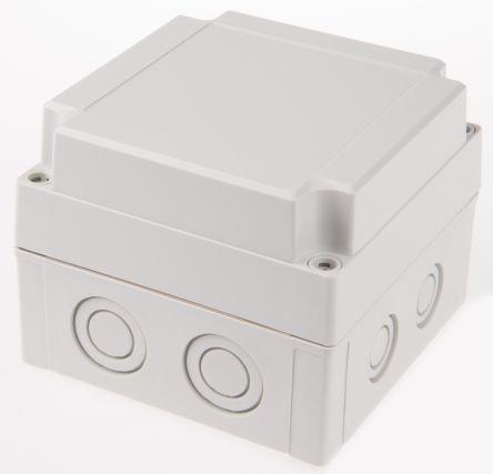 Fibox Grey Polycarbonate Enclosure, IP66, IP67, 130 x 130 x 100mm