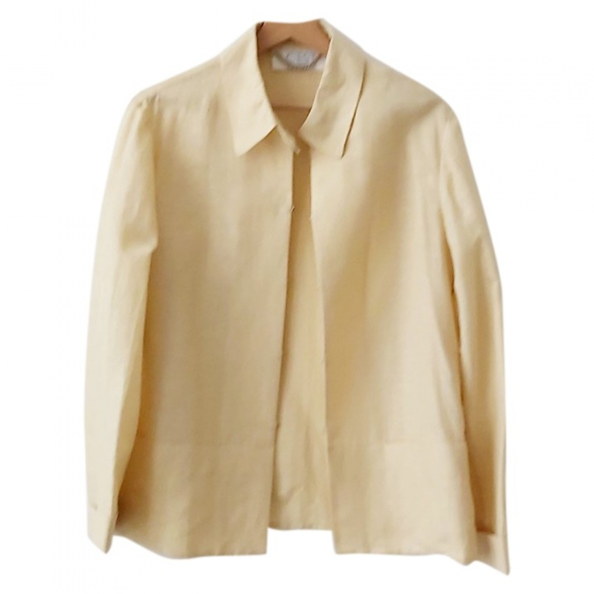Non Signé / Unsigned \N White Linen jacket for Women 42 IT