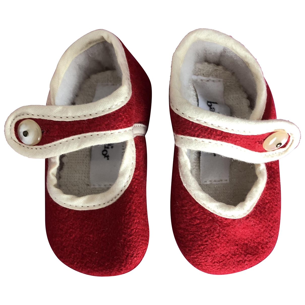 Baby Dior \N Red Wool Slippers for Kids 17 EU