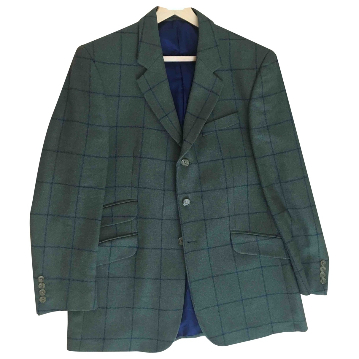 Non Signé / Unsigned \N Green Tweed jacket  for Men 42 UK - US