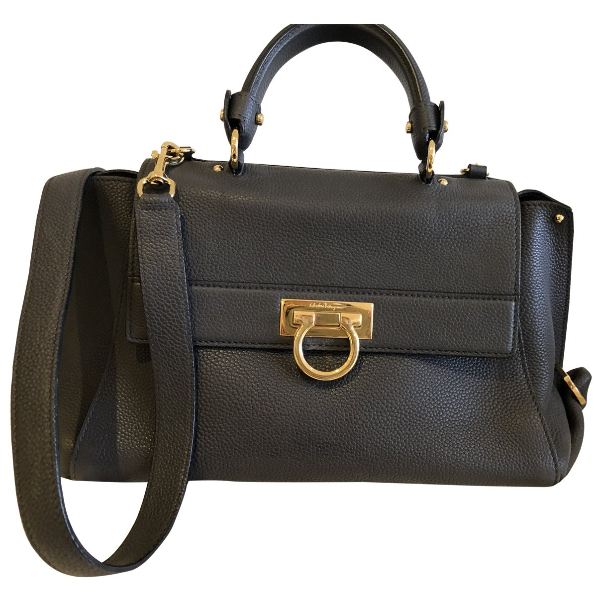 Salvatore Ferragamo Sofia Grey Leather handbag for Women \N