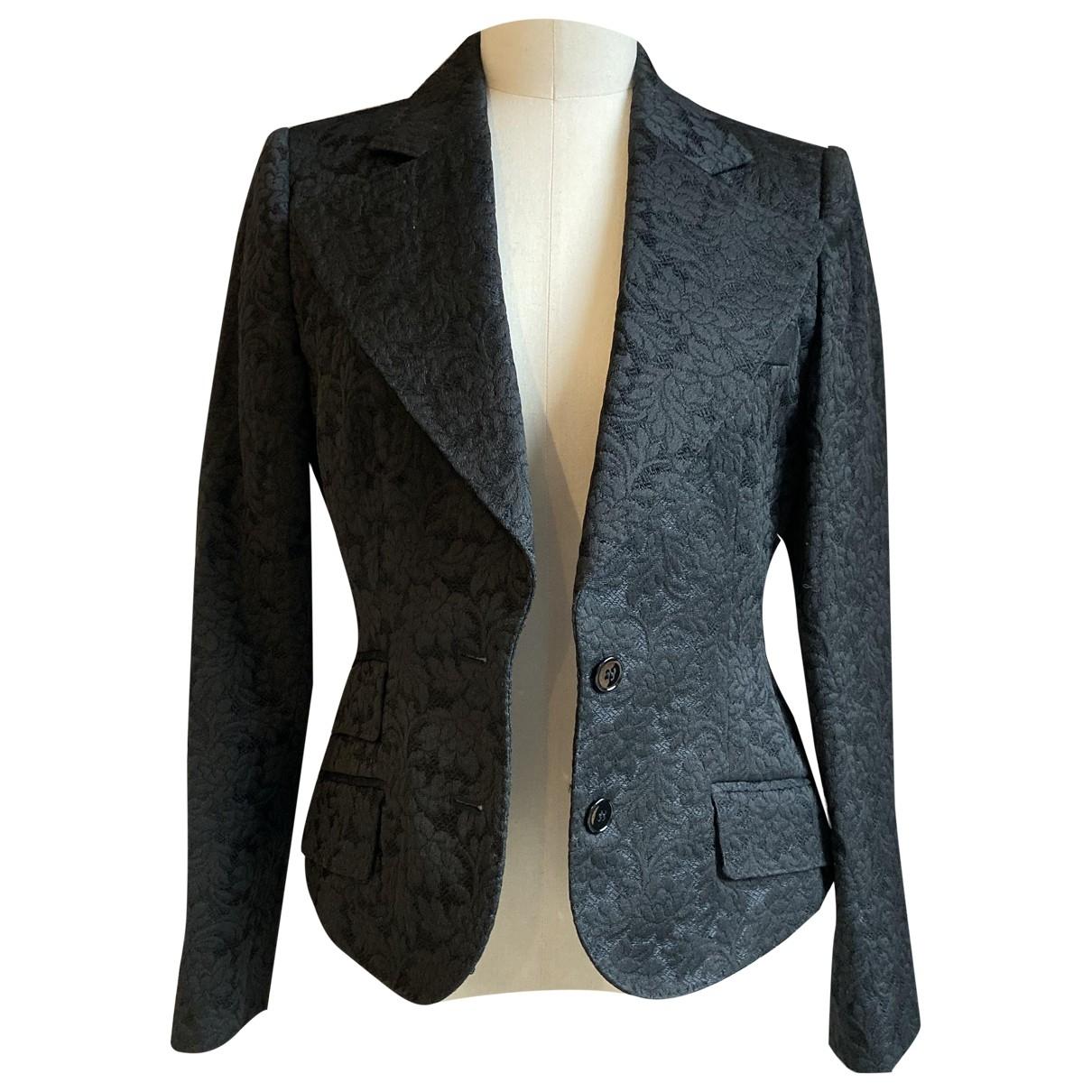 Dolce & Gabbana - Veste   pour femme en lin - noir