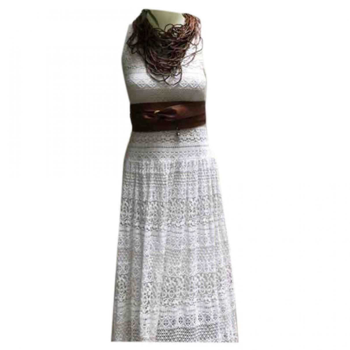 Autre Marque \N Kleid in  Weiss Baumwolle