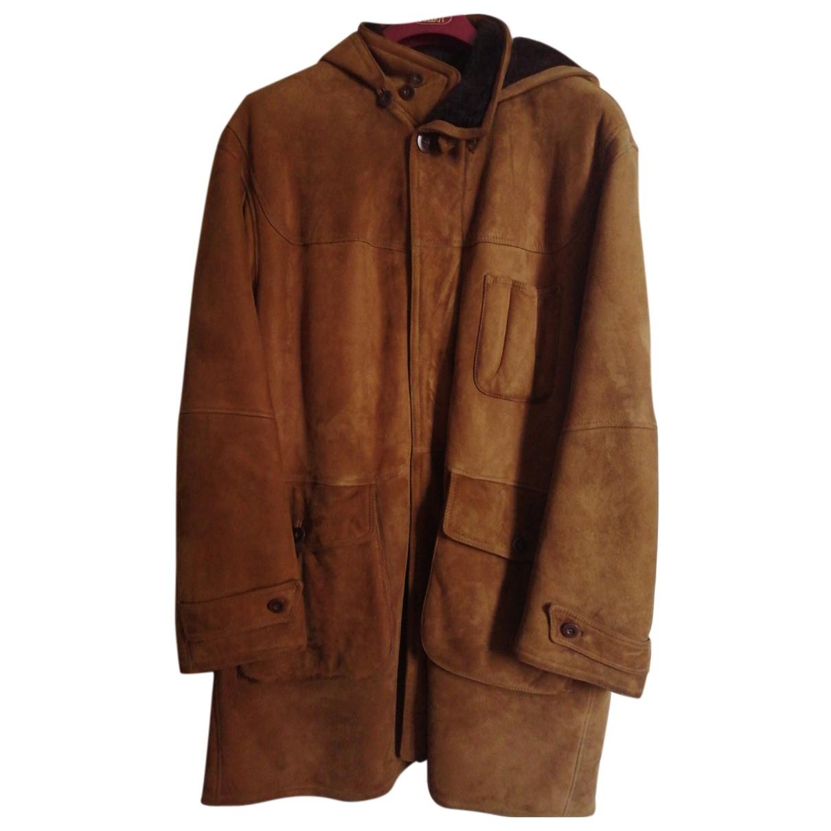 - Manteau   pour homme en mouton - marron