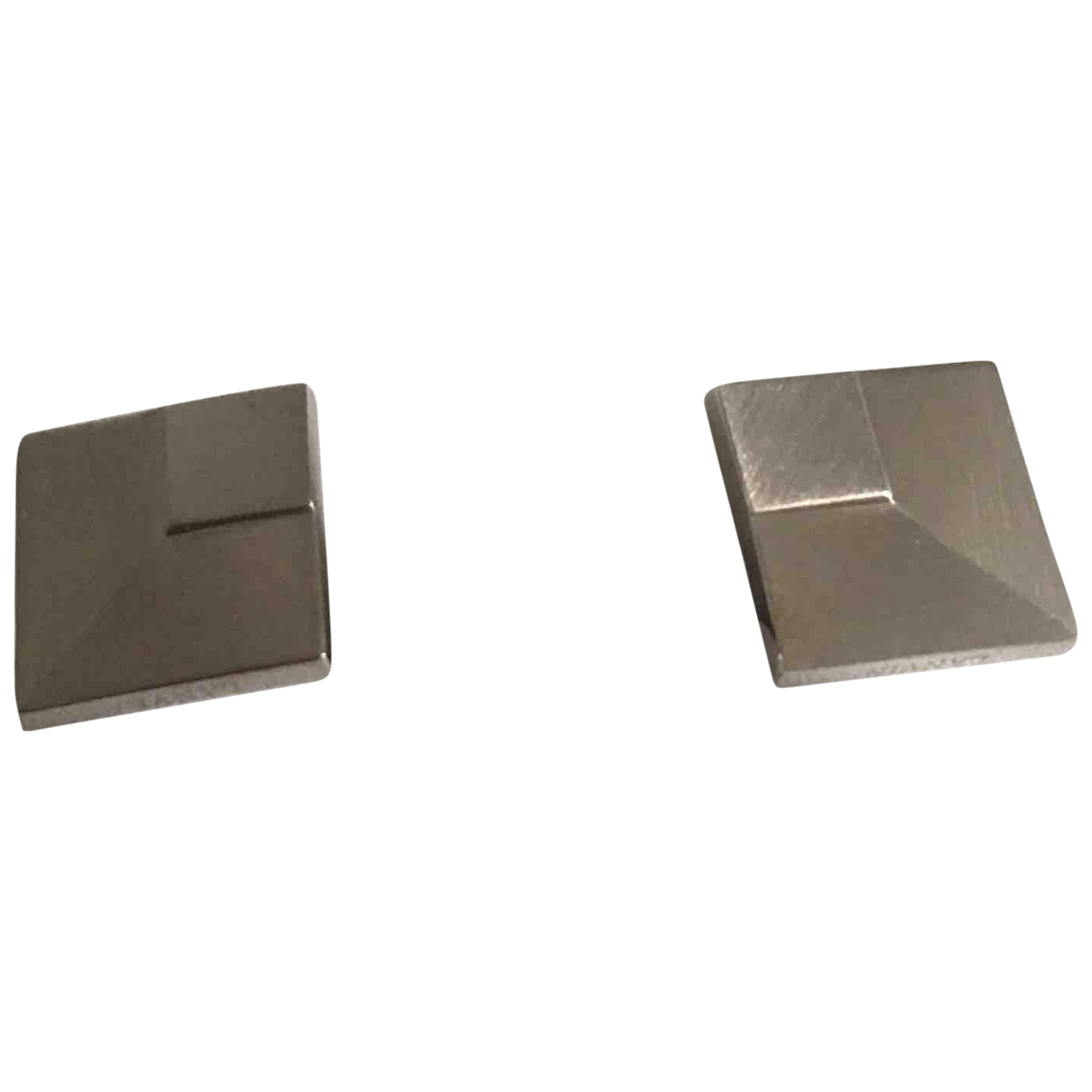 Lanvin \N Silver Steel Cufflinks for Men \N