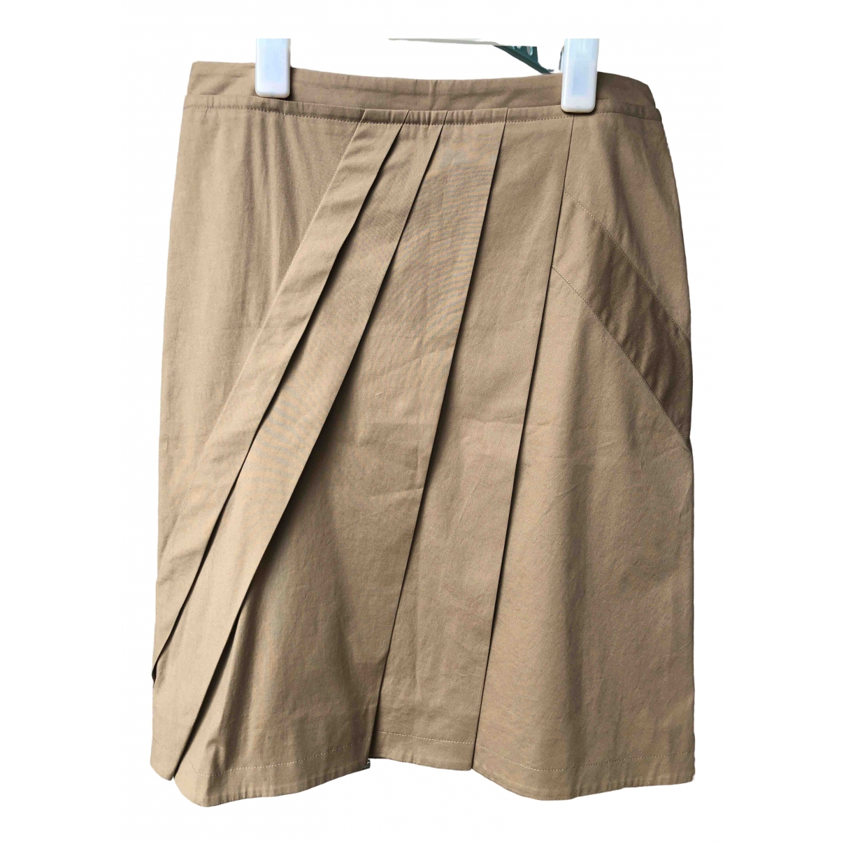 Pringle Of Scotland \N Camel Cotton skirt for Women 10 UK
