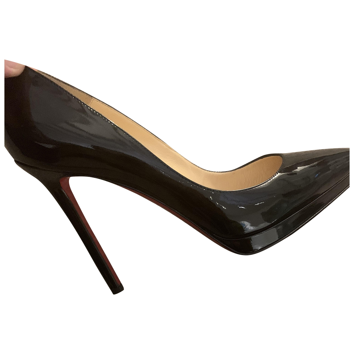 Christian Louboutin \N Black Patent leather Heels for Women 39.5 EU