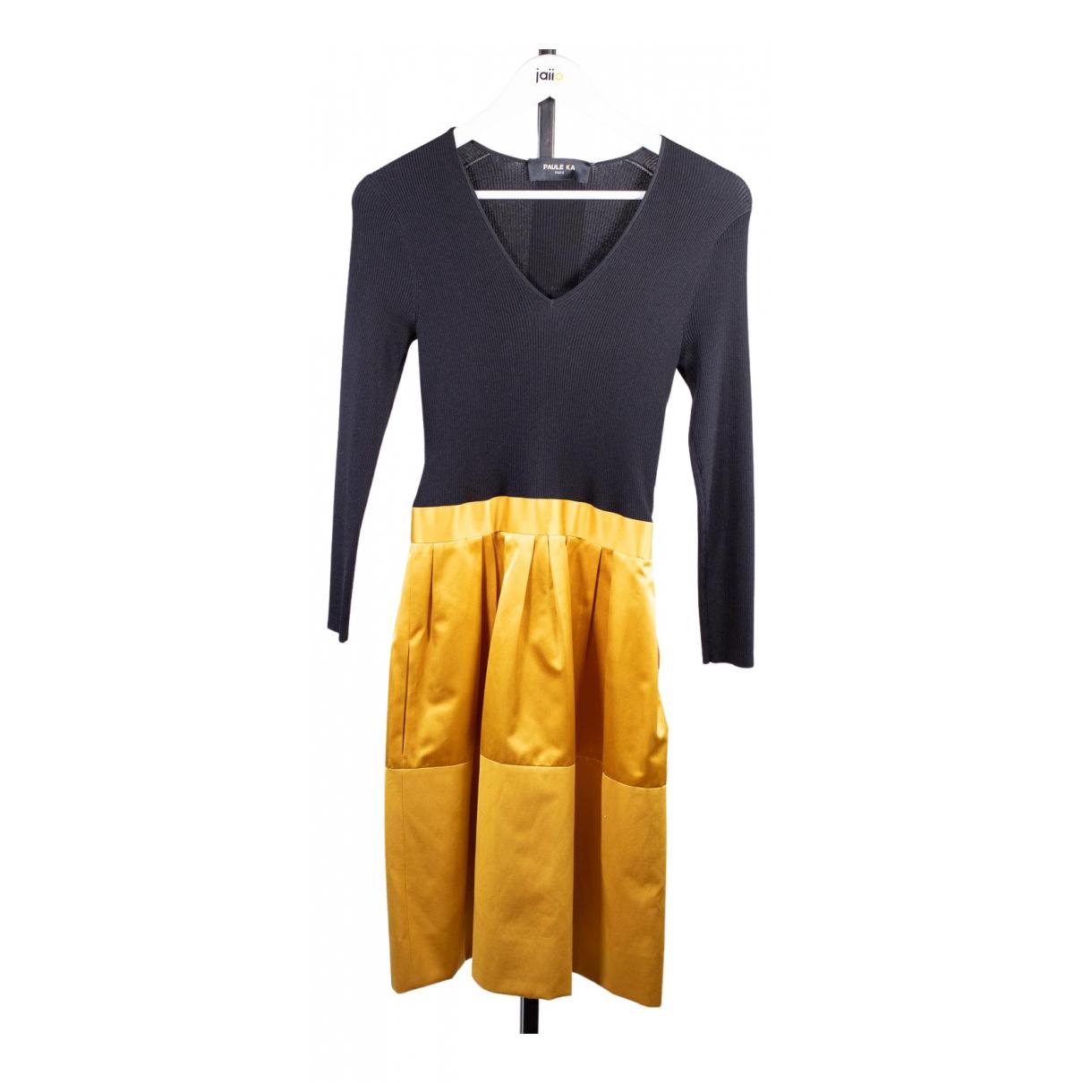 Paule Ka \N Kleid in  Gelb Baumwolle