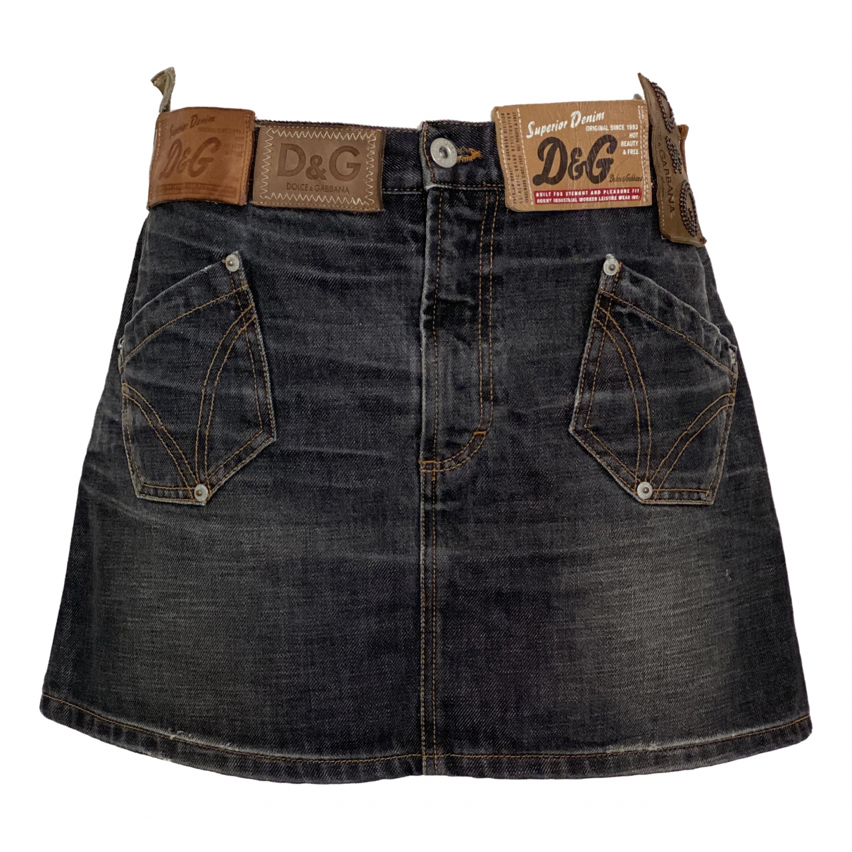 D&g N Blue Denim - Jeans skirt for Women 44 IT