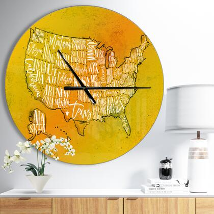 CLM036-C23 United States Yellow Vintage