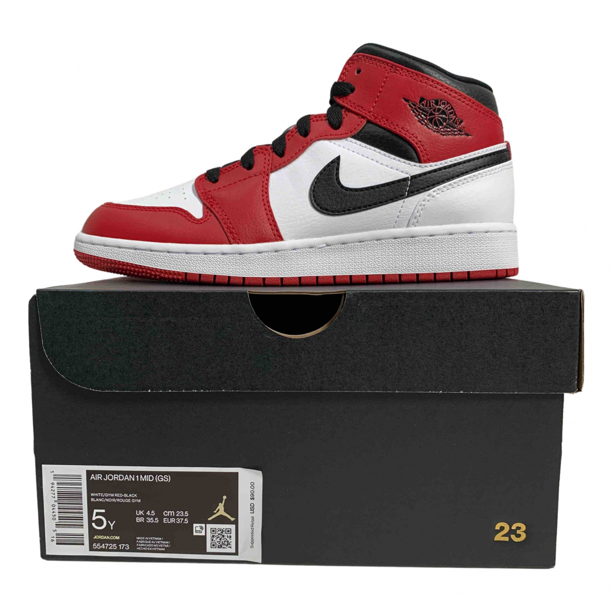 Jordan Air Jordan 1  Sneakers in  Bunt Leder