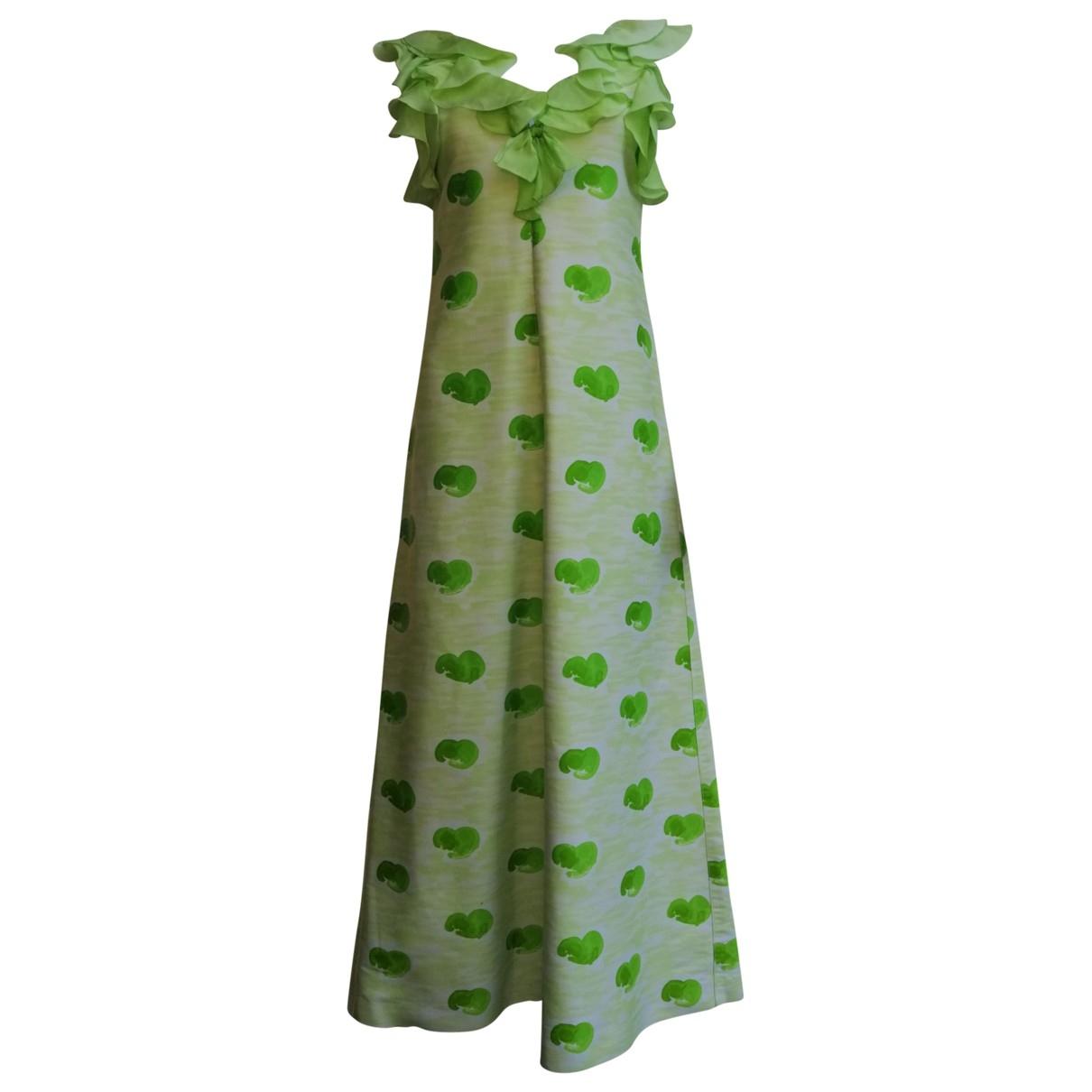 Courreges \N Kleid in  Gruen Seide