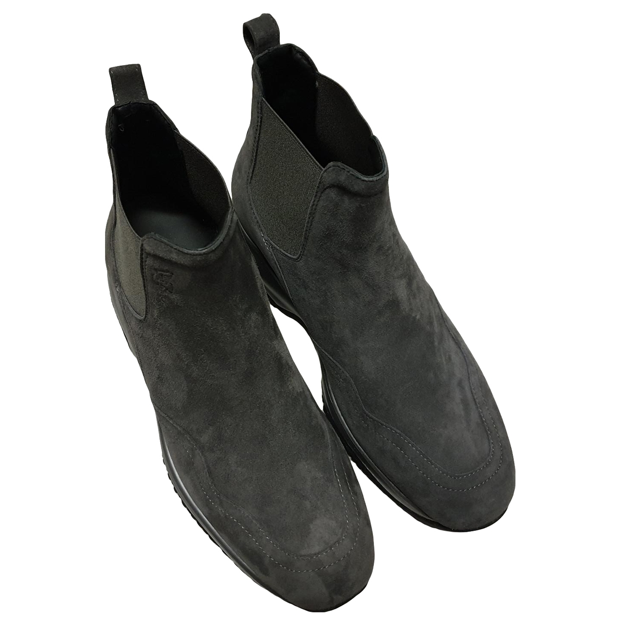 Hogan - Boots   pour femme en suede - gris
