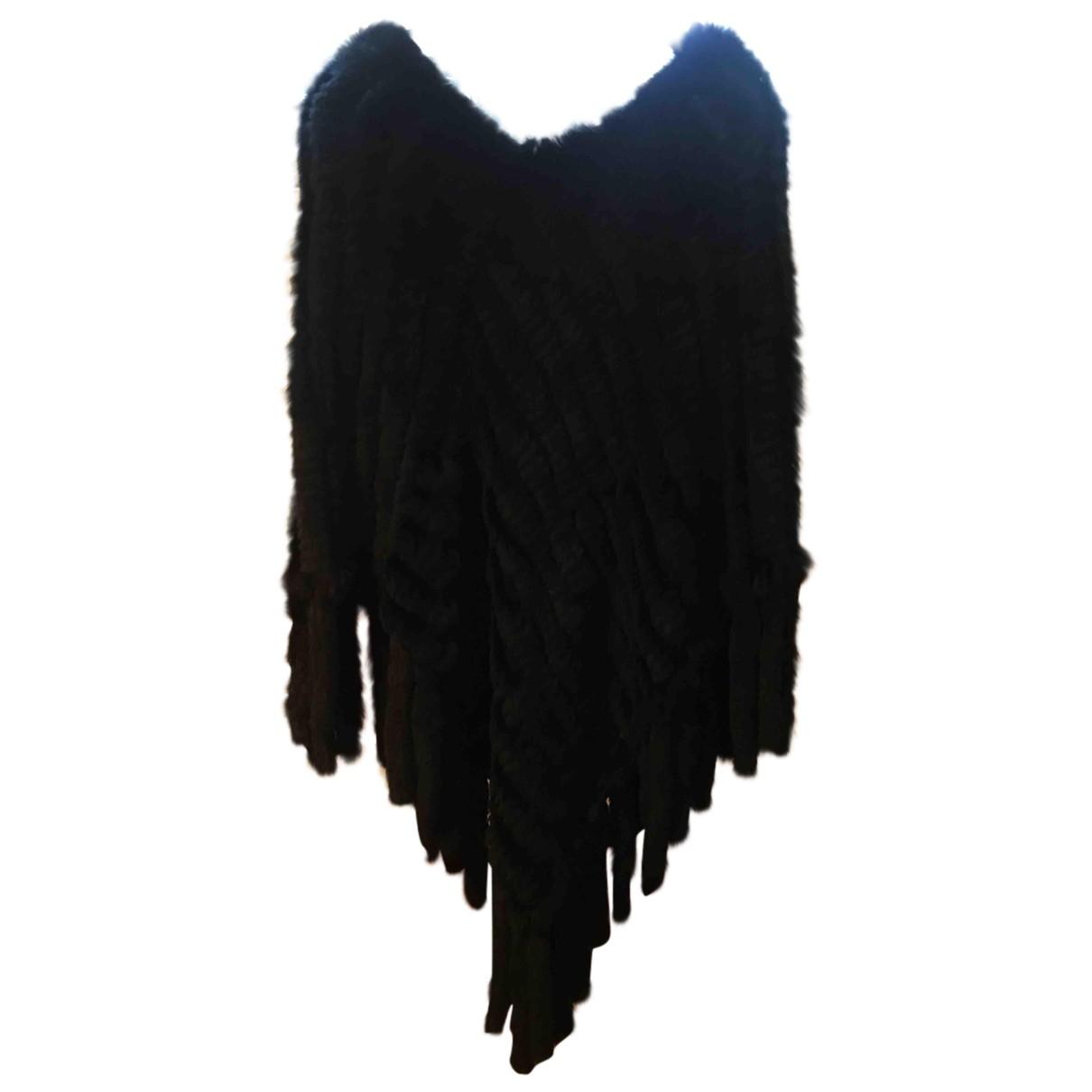 Parosh - Manteau   pour femme en fourrure - noir