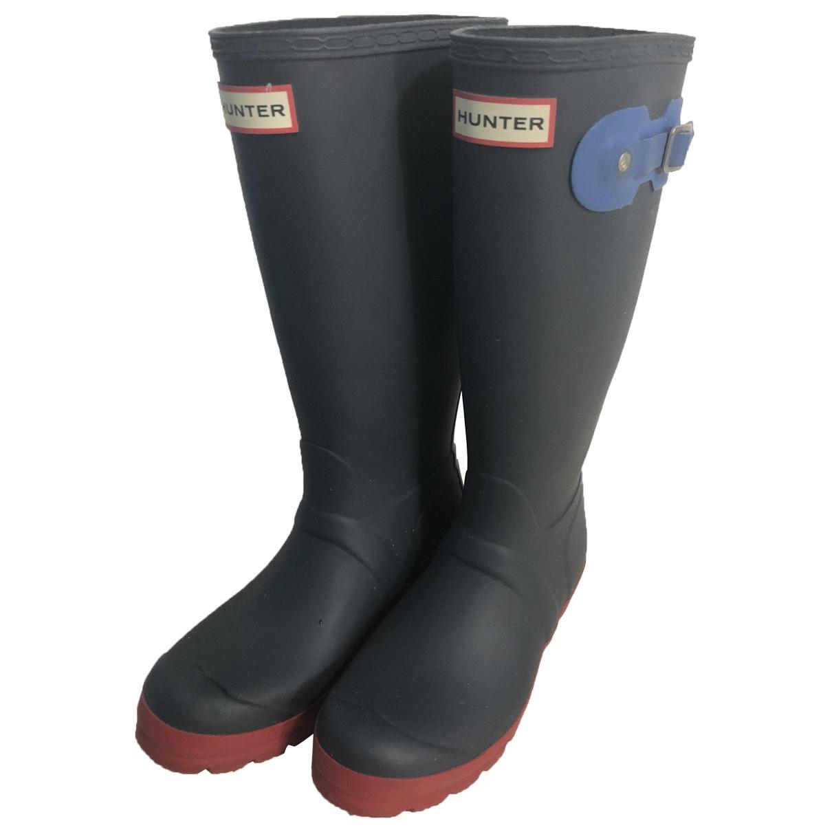 Hunter - Boots   pour femme en caoutchouc - bleu