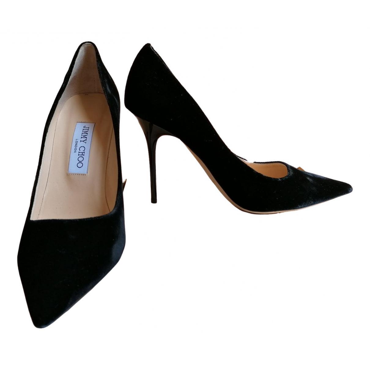 Jimmy Choo Romy Pumps in  Schwarz Samt