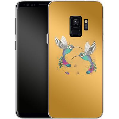 Samsung Galaxy S9 Silikon Handyhuelle - Hummingbirds von Victoria Topping