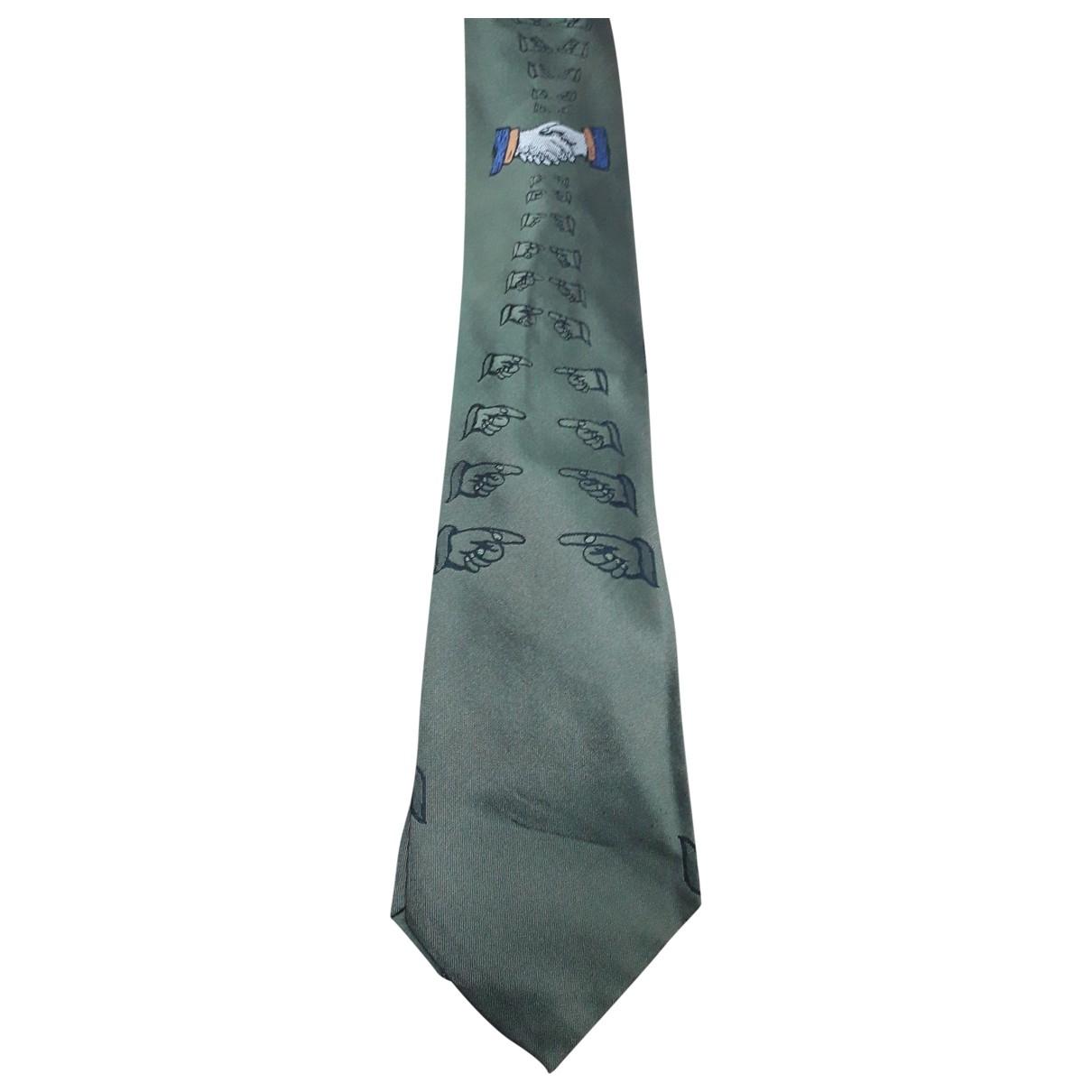 Moschino - Cravates   pour homme en soie - vert