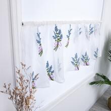 Vorhang mit Blumen Stickereien